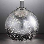 Lampe de table Carmen avec ampoules LED, verre pied argenté avec abat-jour G9Douille, noir, Ø 15cm, hauteur 33,5cm, douille E14 de la marque Wofi image 4 produit