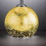 Lampe de table Carmen avec ampoules LED, verre pied doré avec douille G9, abat-jour crème, Ø 15cm, hauteur 33,5cm, douille E14 de la marque Wofi image 4 produit