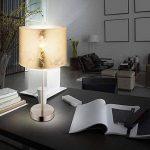 Lampe de table chevet chambre à coucher textile doré nickel mat éclairage salle de séjour de la marque Globo image 1 produit