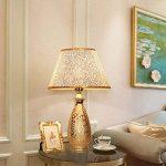 Lampe de table décorée en art doré HALORI salon chambre salle d'étude évier lampe de chevet E27 lampadaire en céramique lampe en PVC (or) de la marque HALORI image 3 produit