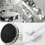 Lampe de table de mode de diamant cristal de bureau lumières coeur lampes de chevet de luxe pour chambre à coucher salon étude décoration lustre transparent LED K9 bureau de bureau lumière de la marque KMYX image 3 produit