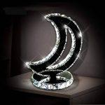 Lampe de table de mode de diamant cristal de bureau lumières coeur lampes de chevet de luxe pour chambre à coucher salon étude décoration lustre transparent LED K9 bureau de bureau lumière de la marque KMYX image 4 produit