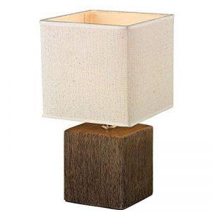 Lampe de table en céramique/plastique dans les couleurs marron et beige Lampe de bureau Lampe de table bureau lampe chevet (Dimensions: Longueur: 15,5cm Largeur: 15,5cm Hauteur 28,5cm) de la marque Esto image 0 produit