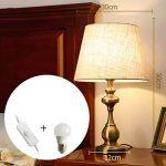 Lampe de table en tissu abat-jour E27 en bronze plaqué lampe de chevet pour l'étude de chambre à coucher de salon, conception de style traditionnel américain de la marque HALORI image 4 produit