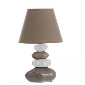 Lampe de table Galets Gris taupe et Beige - Chevet Abat jour Taupe de la marque Atmosphera image 0 produit