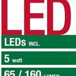 Lampe de table à LED Smartwares 5000.472 – Sans fil – Batterie – 5 W – Plastique – Convient pour une utilisation en extérieur de la marque RANEX image 1 produit