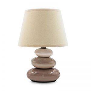 """Lampe de table """"Lina"""" / lampe de chevet en céramique avec 3 pierres de la marque Urban Lifestyle image 0 produit"""