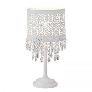 Lampe de table Marrakech blanc en métal avec motif oriental et cristaux de la marque Grafelstein image 0 produit