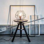 Lampe de table rétro rétro en treillis de cuivre vieilli, H 185 cm, Ø 22 cm, 1x E27 max. 60W, métal, noir / cuivre de la marque Lightbox image 1 produit