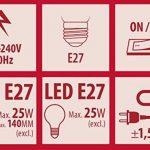 Lampe de table Smartwares 6000.629 Manou – Raccord ES/E27 – Raccord flexible – Blanc et bleu de la marque RANEX image 3 produit