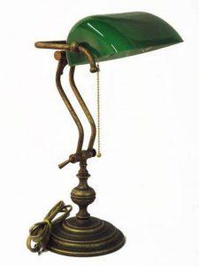 Lampe de Table Vert Verre Ministériel en Laiton MADE IN ITALY de la marque arterameferro image 0 produit