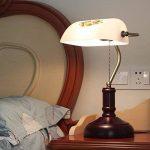 Lampe de table Vintage Banque Ancienne Lampe de Bureau Chambre Étude Lampe de Chevet En Bois Massif Antique Chinois Classique Rétro Lumière Décorative E27 de la marque Lampe de bureau de l'hôtel image 1 produit
