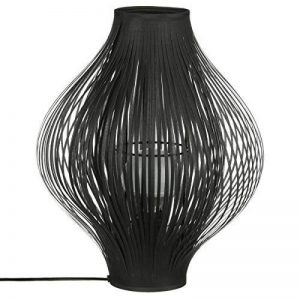 Lampe design à poser - métal et lamelles de tissus - coloris NOIR de la marque Atmosphera image 0 produit