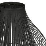 Lampe design à poser - métal et lamelles de tissus - coloris NOIR de la marque Atmosphera image 2 produit