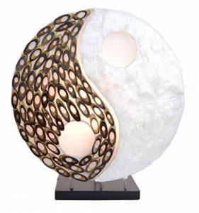 Lampe exotique motif Yin Yang nacre et bambou de la marque Artisanal image 0 produit