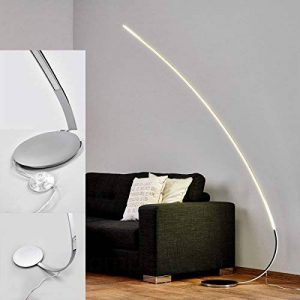 Lampe Lampadaire arc LED Chromé Plat 180m IP20LED Lampadaire moderne Lampadaire [Classe énergétique A +] de la marque GCS image 0 produit