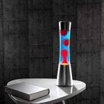 Lampe à lave en verre et aluminium - Rouge / Bleu de la marque Lunartec image 2 produit