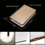 Lampe livre, Tomshine 500 Lumens Pliante en Forme de Livre avec Batterie Lithium Rechargeable Port USB Lampe de chevet Veilleuse lumières décoratives Blanc chaud Dimension: 12.1 * 9.5 * 2.5cm (4.8 * 3.7 * 1Inch) de la marque Tomshine image 1 produit