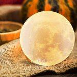 Lampe Lune 3D, ALED LIGHT Veilleuse LED Lampe Luna Tactile 3 Couleurs, 15cm/5,9inch Diamètre, USB Rechargeable Veilleuse Lune pour Chambre Salon Café Cadeau Anniversaire Noël de la marque ALED LIGHT image 2 produit