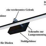 Lampe murale 50cm mod de B blanc chaud Applique Tableau meilleure qualité designer Lampe applique Tableau LED noir de la marque KML image 3 produit