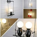 Lampe Murale E27 Applique Murale Couloir de la lampe Miroir lampe luminaire Couloir de la lampe pour Couloir Toilettes la chambre à coucher Loft Chambre à coucher Office Home Décoration lumineuse de la marque Azanaz image 4 produit