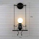 Lampe Murale E27 Applique Murale Couloir de la lampe Miroir lampe luminaire Couloir de la lampe pour Couloir Toilettes la chambre à coucher Loft Chambre à coucher Office Home Décoration lumineuse de la marque Azanaz image 1 produit