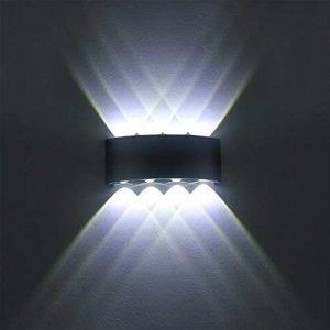 Lampe Murale LED 8W Moderne Appliques Murales IP65 Étanche Applique Luminaire En Aluminium Up Down Décoratif Spot Lumière Nuit Lampe pour Salon Chambre Hall Escalier Pathway (Blanc froid) de la marque SOBROVO image 0 produit