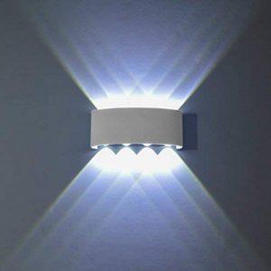 Lampe Murale LED, PHOEWON 8w Moderne Aluminium LED Applique Murale Interieur Éclairage Mural, Applique Murale Lumières pour Cuisine Escalier Chambre Couloir, les Lampes de Nuit de la marque image 0 produit