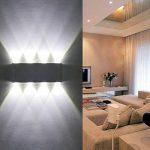 Lampe Murale LED, Phoewon 8w Moderne Aluminium LED Applique Murale Interieur Éclairage Mural, Applique Murale Lumières pour Cuisine Escalier Chambre Couloir Salon, les Lampes de Nuit (Blanc Froid) de la marque PHOEWON image 2 produit