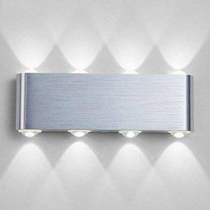 Lampe Murale LED, Phoewon 8w Moderne Aluminium LED Applique Murale Interieur Éclairage Mural, Applique Murale Lumières pour Cuisine Escalier Chambre Couloir Salon, les Lampes de Nuit (Blanc Froid) de la marque PHOEWON image 0 produit