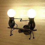 Lampe murale miroir lampe Applique murale en métal E27 effet lampe couloir lampe escalier lumière lumière de nuit lampe lampe à dessin animé pour chambre d'enfant salon salle de séjour étude hallway hôtels de la marque Azanaz image 3 produit