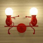 Lampe murale miroir lampe Applique murale en métal E27 effet lampe couloir lampe escalier lumière lumière de nuit lampe lampe à dessin animé pour chambre d'enfant salon salle de séjour étude hallway hôtels de la marque Azanaz image 2 produit
