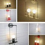 Lampe Murale Moderne Mode Applique Murale Créatif Simplicité Design Appliques pour Chambre d'enfant Couloir Décoratives Eclairage Lampe Douille E27*1 max. 40W , Noir de la marque HanLinLight image 4 produit
