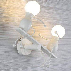 Lampe Murale Moderne Mode Applique Murale Créatif Simplicité Design Appliques pour Chambre d'enfant Couloir Décoratives Eclairage Lampe Douille E27*2 max. 40W , Blanc de la marque HanLinLight image 0 produit