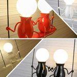 Lampe Murale Moderne Mode Applique Murale Créatif Simplicité Design Appliques pour Chambre d'enfant Couloir Décoratives Eclairage Lampe Douille E27*2 max. 40W , Noir de la marque HanLinLight image 3 produit