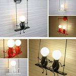 Lampe Murale Moderne Mode Applique Murale Créatif Simplicité Design Appliques pour Chambre d'enfant Couloir Décoratives Eclairage Lampe Douille E27*2 max. 40W , Noir de la marque HanLinLight image 4 produit
