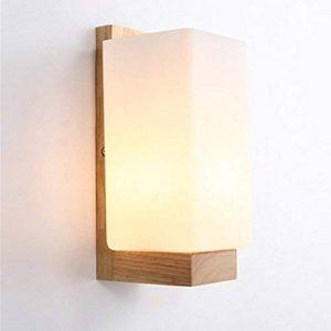 Lampe Murale Scandinave en Bois Applique Murale Style Simpe pour Chevet Salon Escalier Couloir de la marque Luniquz image 0 produit