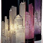 Lampe new york cylindrique Violet / Noir de la marque Atmosphera image 1 produit