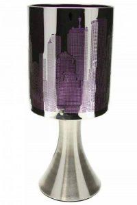 Lampe New York Tactile sans interrupteur - 3 intensités lumineuses - Violet de la marque Générique image 0 produit