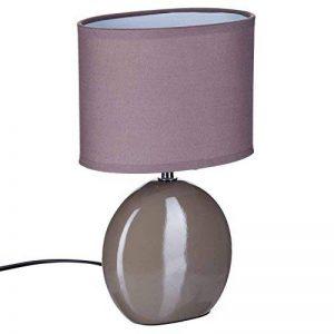 Lampe Ovale en céramique - H. 31 cm. - Taupe de la marque Atmospera image 0 produit