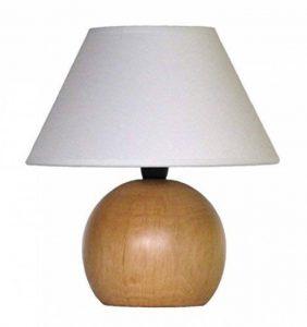 lampe, petite lampe en bois tourné avec abat jour - production propre - Made in Italy (une pièce) de la marque Paolo Rossi image 0 produit