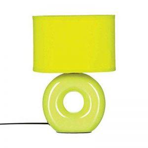 Lampe pied céramique rond Vert Anis abat jour ovale de la marque Atmosphera image 0 produit