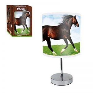 Lampe Pied Metal Chrome Cheval Abat jour PVC de la marque L'Univers du Cheval image 0 produit