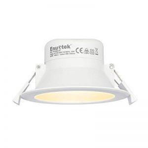 Lampe Plafonnier Spot LED Encastrable Plafond à LED 10W 220V pour Salle de Bain et Cuisine Blanc Chaud 3000K Trou de Plafond Φ90-105MM Lot de 1 de Enuotek de la marque ENUOTEK image 0 produit