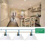Lampe Plafonnier Spot LED Encastrable Plafond à LED 10W 220V pour Salle de Bain et Cuisine Blanc Chaud 3000K Trou de Plafond Φ90-105MM Lot de 1 de Enuotek de la marque ENUOTEK image 2 produit
