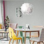 Lampe Plume Plafond Lustre Suspension Plume moderne pour salon chambre restaurant cuisine etc-E27 40W de la marque RUNFON image 4 produit