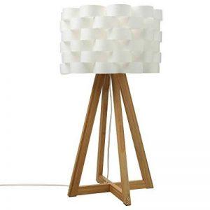 Lampe à poser au style épuré - Pied en bambou et abat jour tressé aspect fibre de verre de la marque Atmosphera image 0 produit