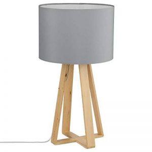 Lampe à poser avec pied en bois naturel - Style Nordique - Coloris GRIS de la marque Atmosphera image 0 produit
