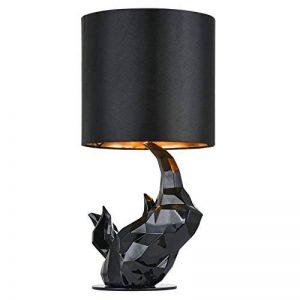Lampe à poser, lampe de table, lampe de chevet, style Moderne, Art Deco, Armature en polyresine couleur noir, Abat-jour en tissu couleur noir, ampoule non incluse, pour le salon, chambre, sejour, bureau, 40 W E14 220V -240V … de la marque MAYTONI DECORATI image 0 produit