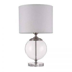 Lampe à poser, lampe de table, lampe de chevet, style moderne, Art Deco, Armature en verre en forme de boule, Abat-jour en tissu couleur blanc, ampoule non incluse, pour le salon, chambre, sejour, bureau, 40 W E27 220V -240V de la marque MAYTONI DECORATIV image 0 produit